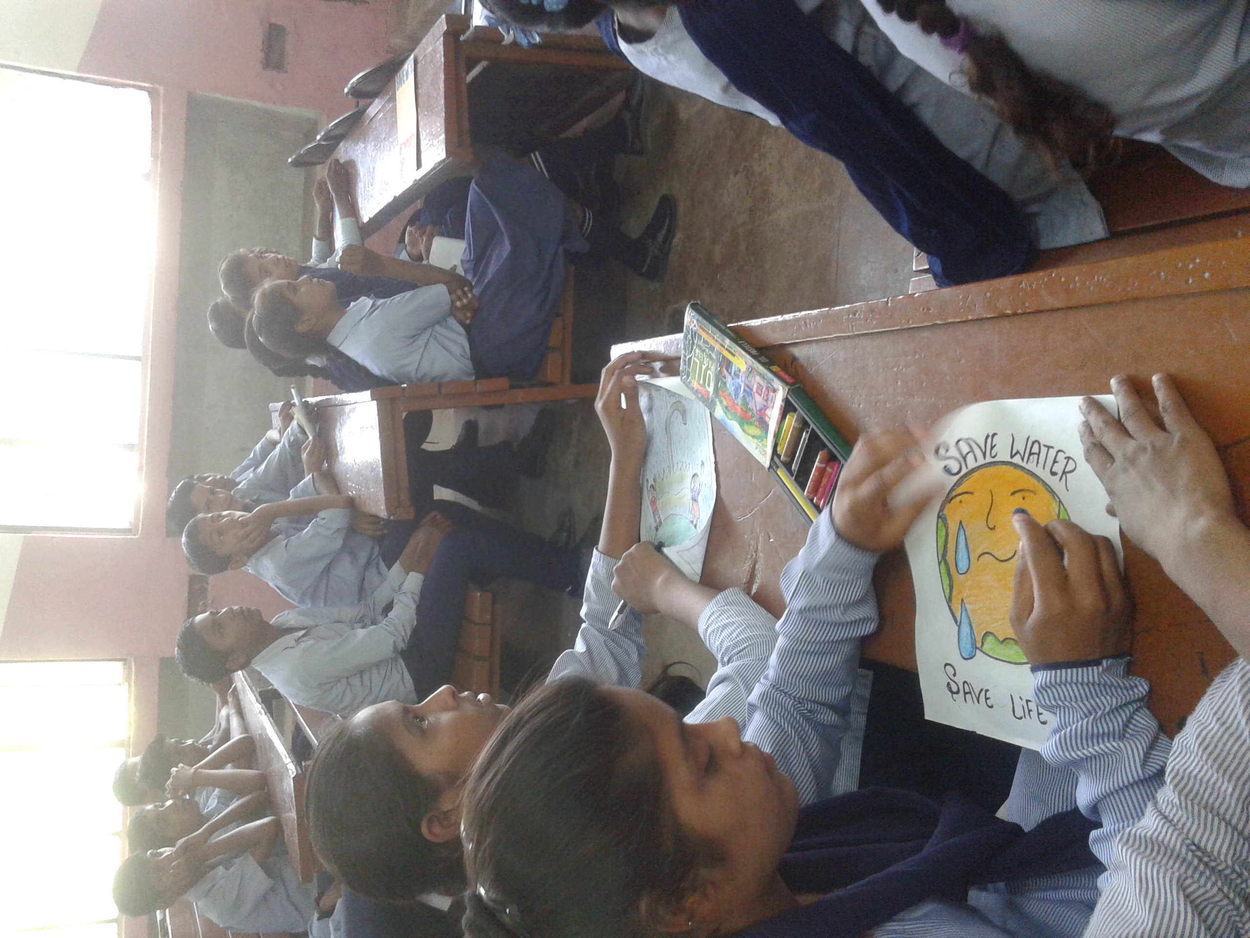 Poster Making Competition Was Organised To Aware The Students About Importance Of Water As A Natural Resource